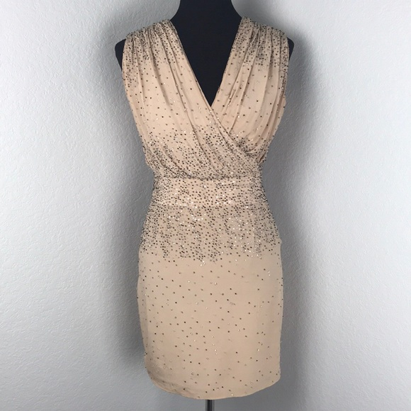 34a18232f9b Haute Hippie Dresses   Skirts - Haute Hippie Nude Blush Beaded Mini Cocktail  Dress